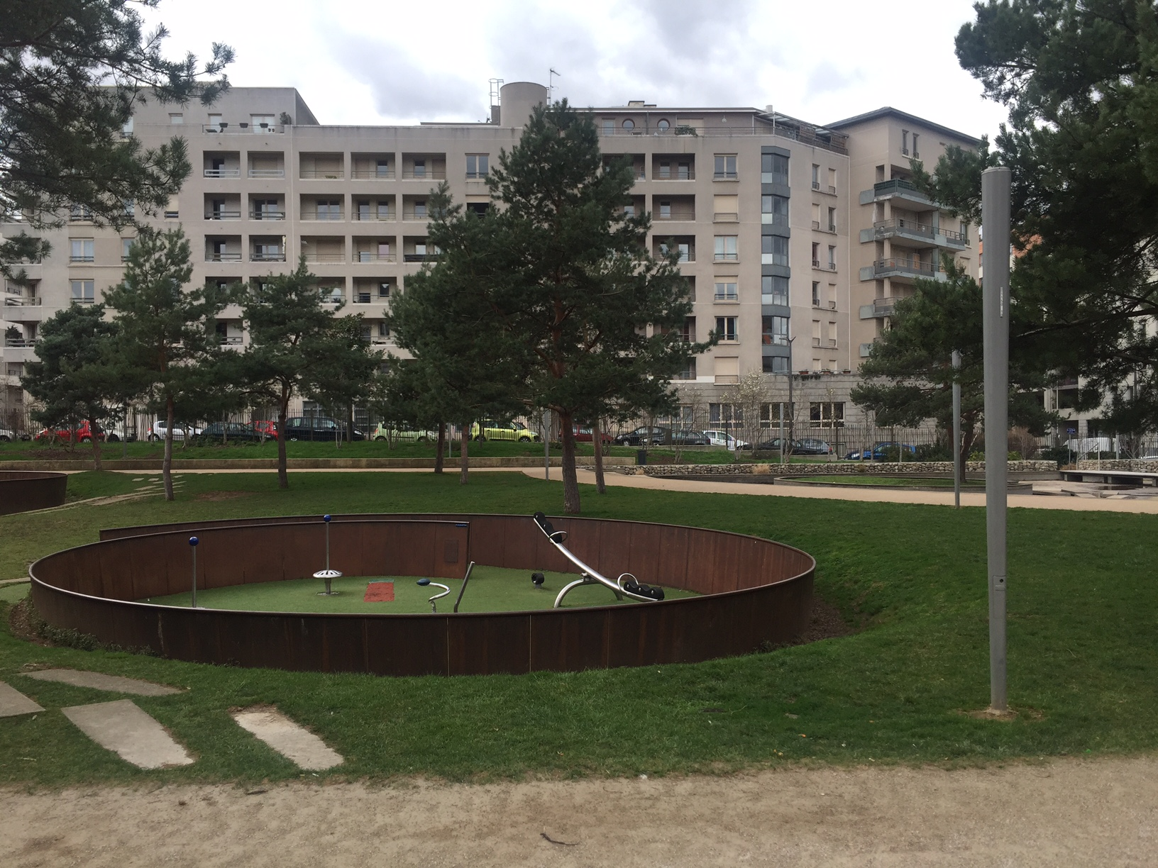 Parc Kaplan: example of adaptation measures to climate change in Lyon