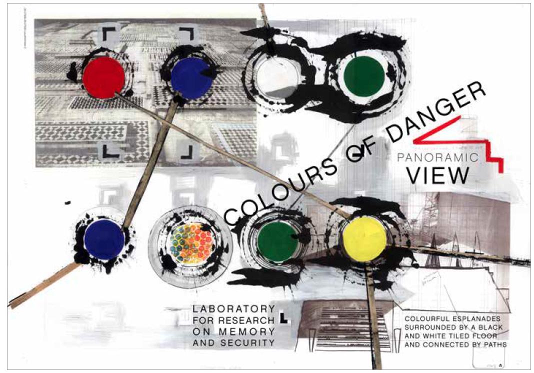 Colours of Danger (artwork of the Belgian artist Cécile Massart)