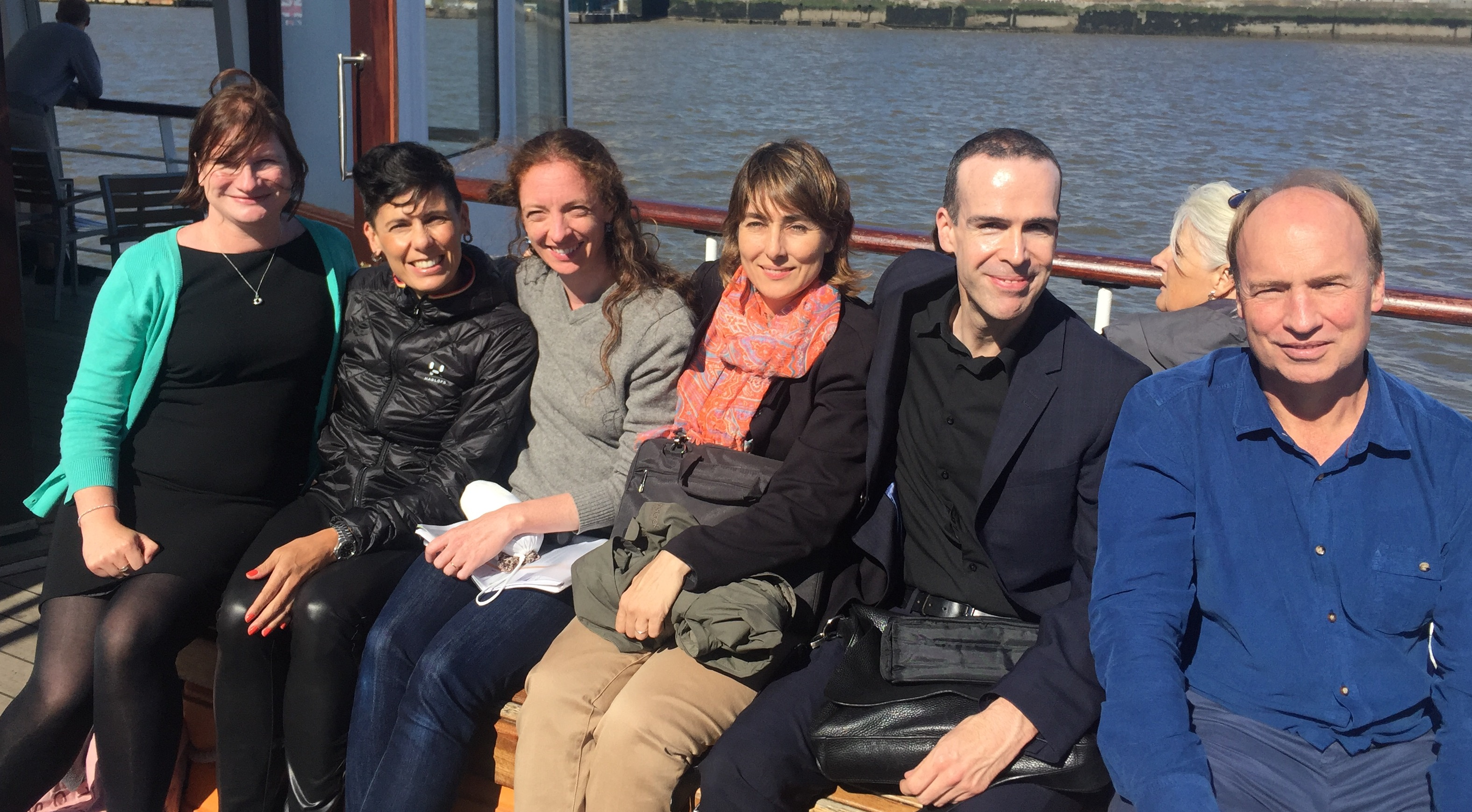 Ferry trip of the participants in the Mersey river